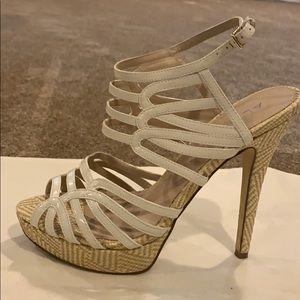 Aldo Cream Patent Leather 4 inch Heel